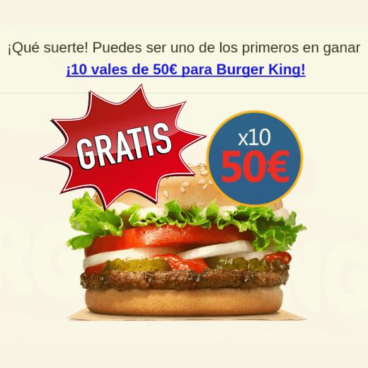 vale gratis burger king